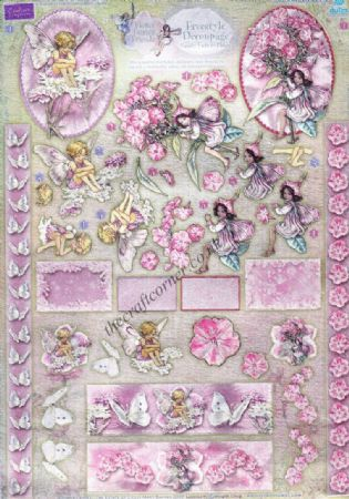 Candy Tuft & Phlox Flower Fairy Freestyle 3d Die Cut Decoupage Sheet From Dufex